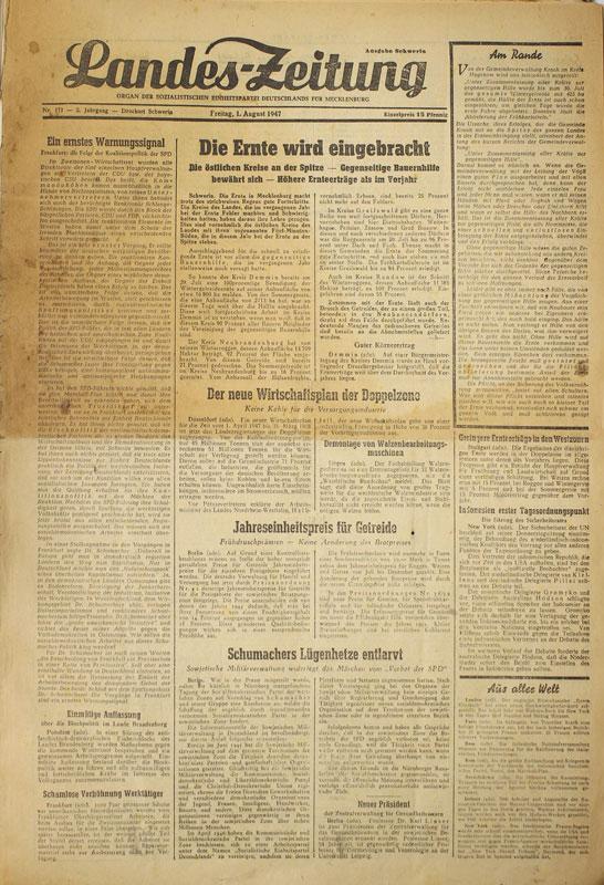 Wismar Zeitung: Landes-Zeitung