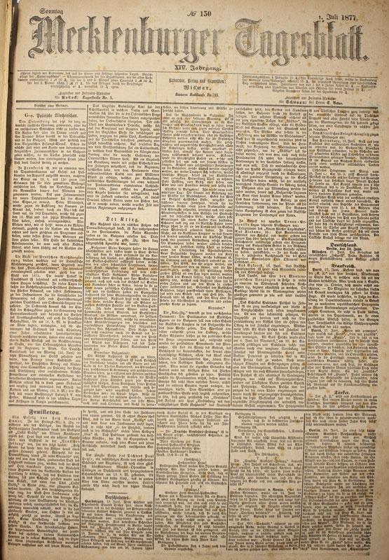 Wismar Zeitung: Mecklenburger Tagesblatt