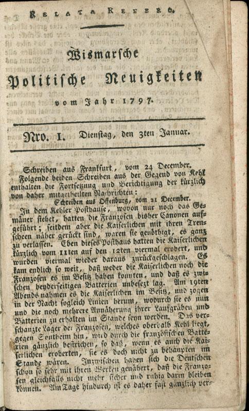 Wismar Zeitung: Politische Neuigkeiten Wismar
