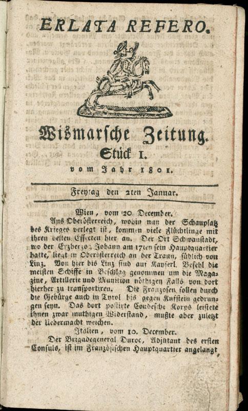 Wismar Zeitung: Wismarsche Zeitung